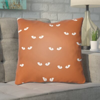 Aldusa Indoor/Outdoor Throw Pillow Color: Orange, Size: 20 H x 20 W x 4 D