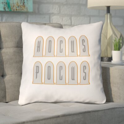 Eloisa Indoor/Outdoor Throw Pillow Color: White, Size: 20 H x 20 W x 4 D