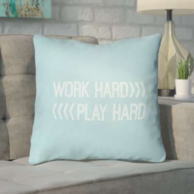 Smetana Indoor/Outdoor Throw Pillow Size: 20 H x 20 W x 4 D, Color: Blue