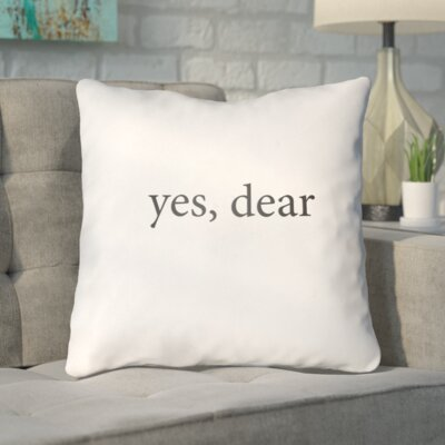 Odelina Indoor/Outdoor Throw Pillow Size: 18 H x 18 W x 4 D, Color: White