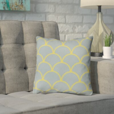 Archey Printed Throw Pillow Color: Slate / Yellow, Size: 20 H x 20 W x 5 D