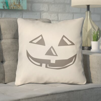 Letitia Indoor/Outdoor Throw Pillow Color: Beige, Size: 18 H x 18 W x 4 D