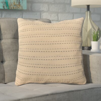 Parry Throw Pillow Color: Cream