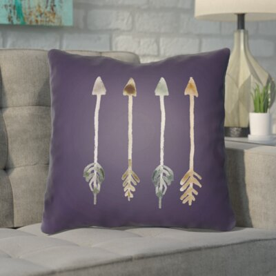 Smetana Outdoor Throw Pillow Size: 20 H x 20 W x 4 D, Color: Purple