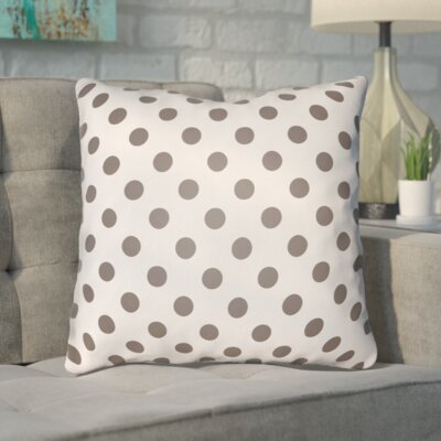 Phi Halloween Polkadots Indoor/Outdoor Throw Pillow Color: White, Light Gray, Size: 18