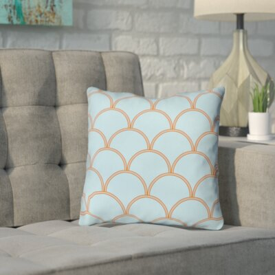 Brendan Throw Pillow Size: 14 H x 14 W x 3 D, Color: Blue / Orange