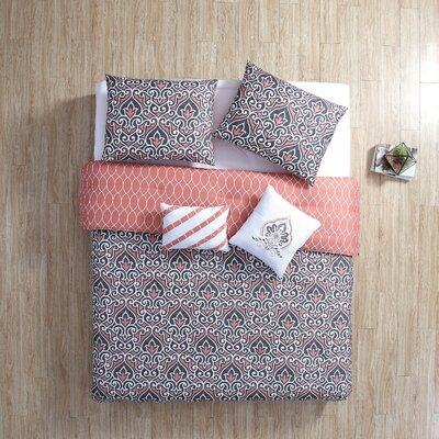 Sheffield 5 Piece Reversible Comforter Set Size: King
