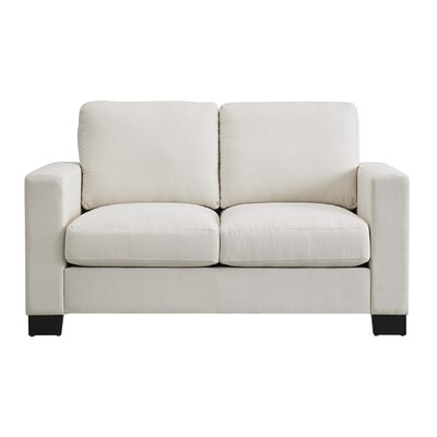 Armour Down-filled Linen Loveseat