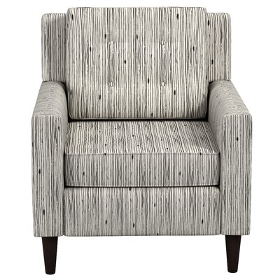 Greer Adobe Armchair Upholstery: Shibori Stripe Ink OGA