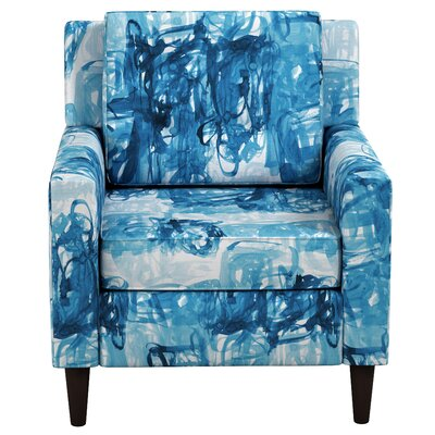 Greer Adobe Armchair Upholstery: Stroke Block Blue OGA