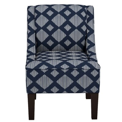 Goldhorn Armchair Upholstery: Line Lattice Indigo OGA, Nailhead Detail: No Trim
