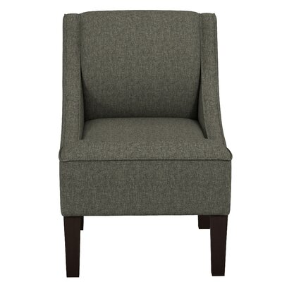 Goldhorn Armchair Upholstery: Zuma Charcoal, Nailhead Detail: No Trim