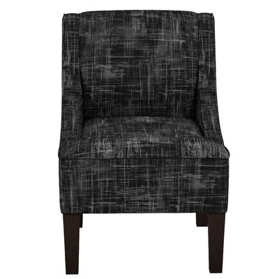 Goldhorn Armchair Upholstery: Metallic Crossweave Black OGA, Nailhead Detail: No Trim