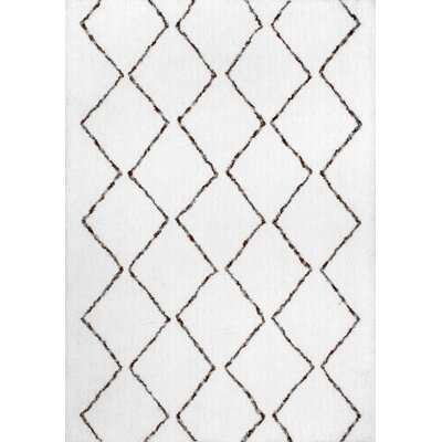Glade Cream/Brown Area Rug Rug Size: Rectangle 36 x 56