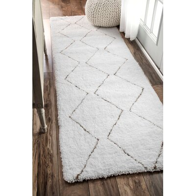 Glade Cream/Brown Area Rug Rug Size: Runner 26 x 8