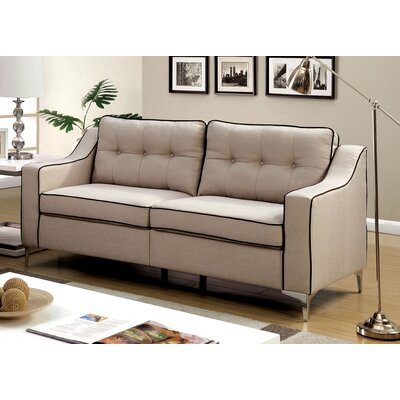 Avalos Contemporary Sofa Upholstery: Beige