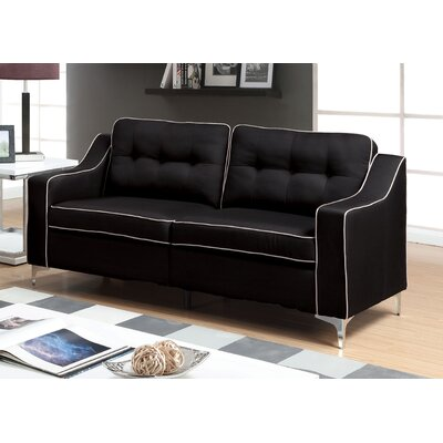 East Arapahoe Contemporary Sofa Upholstery: Black