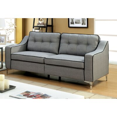 Madilyn Contemporary Sofa Upholstery: Gray