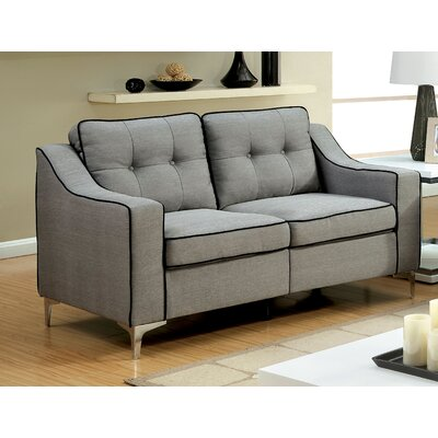 East Arapahoe Contemporary Plain Loveseat Upholstery: Gray