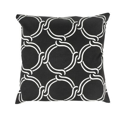 Vasilisa Geometric 100% Cotton Throw Pillow Color: Black