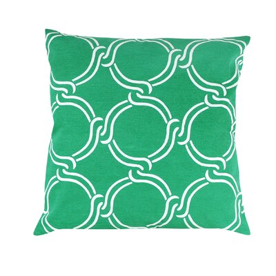 Vasilisa Geometric 100% Cotton Throw Pillow Color: Green