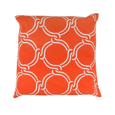 Vasilisa Square Geometric 100% Cotton Throw Pillow Color: Orange