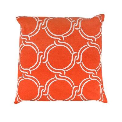 Vasilisa Geometric 100% Cotton Throw Pillow Color: Orange