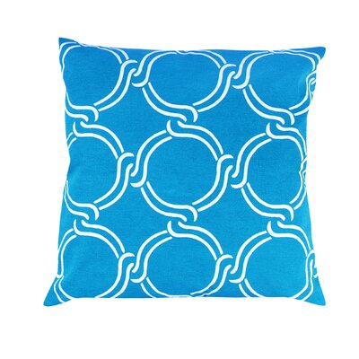 Vasilisa Square Geometric 100% Cotton Throw Pillow Color: Baby Blue