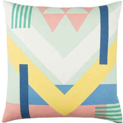 Clio Square Geometric Cotton Throw Pillow Size: 20