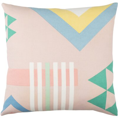 Clio Square Cotton Throw Pillow Size: 18