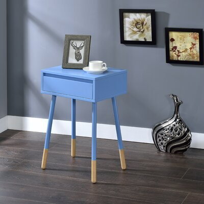 Backlund End Table with Storage Color: Blue