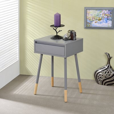 Backlund End Table with Storage Color: Gray