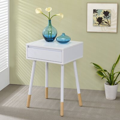 Backlund End Table Finish: White