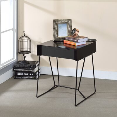 Backman End Table with Storage Color: Black