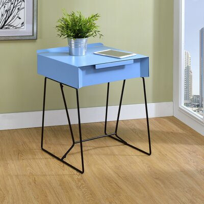 Backman End Table with Storage Color: Blue