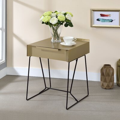 Backman End Table Finish: Champagne