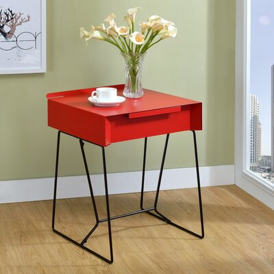 Backman End Table Finish: Red