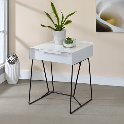 Backman End Table Finish: White