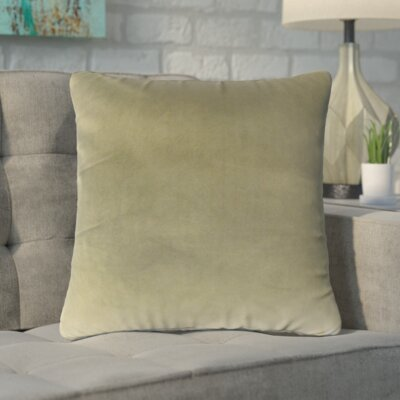 Markos Velvet Throw Pillow Color: Oak, Size: 18 x 18