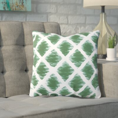 Numenius Outdoor Throw Pillow Size: 26 H x 26 W x 7 D, Color: Emerald