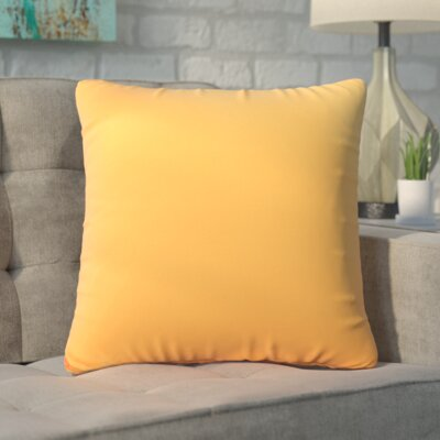 Ansley Solitaire Throw Pillow Color: Orange
