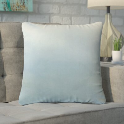 Markos Velvet Throw Pillow Color: Sky Blue, Size: 18 x 18
