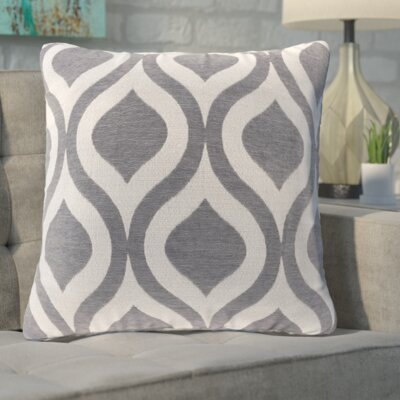 Olsen Chenille Throw Pillow Color: Gray