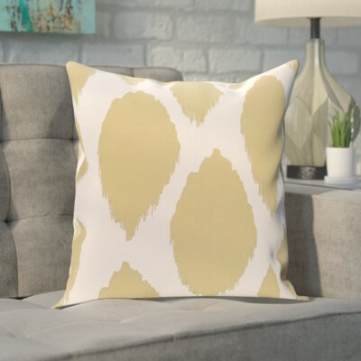 Blackwood Outdoor Throw pillow Color: Yellow, Size: 18 H x 18 W x 1 D