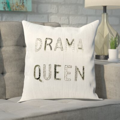 Mikonos Sequined Throw Pillow Color: White