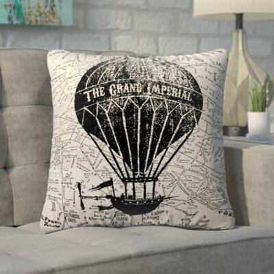 Biscoe Vintage Air Balloon Linen Throw Pillow