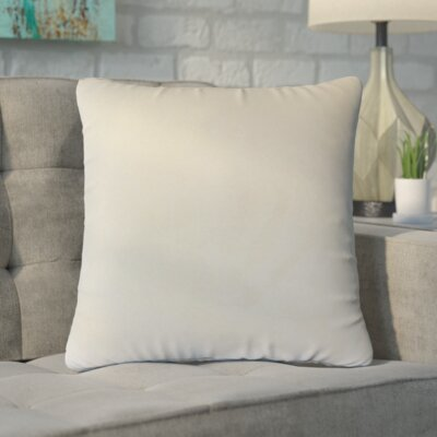 Markos Velvet Throw Pillow Color: Vanilla, Size: 18 x 18