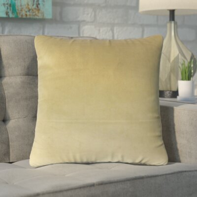 Markos Velvet Throw Pillow Color: Olive, Size: 20 x 20
