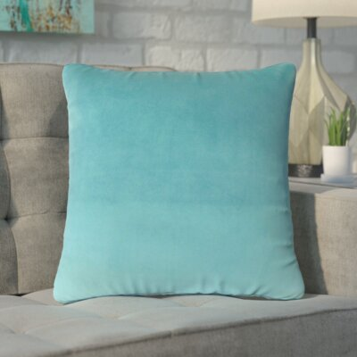 Markos Velvet Throw Pillow Color: Turquoise, Size: 20 x 20