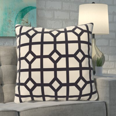 Kestner Don't Fret Geometric Print Floor Pillow Color: Navy Blue